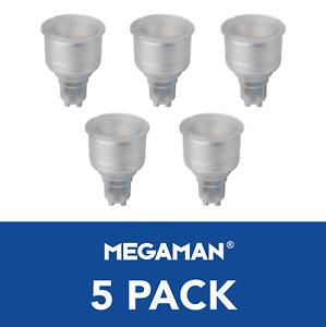 5x Megaman LED Long Neck Reflector Light Bulbs GU10 PAR16 5 Watt 4000K 2700K