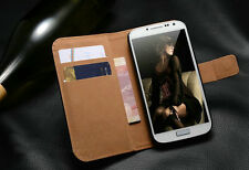 Luxury Flip Wallet leather cover case For Samsung Galaxy S4 SIV i9500