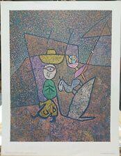 """Paul Klee Vintage Print """"Traveling Circus"""" 1972 Penn Prints 19""""×14"""""""