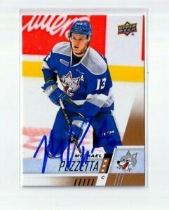 MICHAEL PEZZETTA autographed '17/18 Upper Deck CHL card MONTREAL CANADIENS