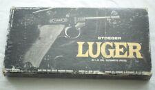 RARE VINTAGE ORIGINAL STOEGER LUGER 22 BOX + Schematics Service Manual