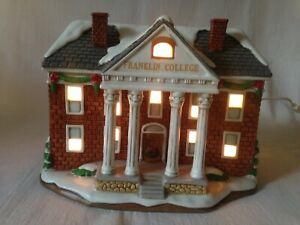 Vintage Lefton Colonial Village Franklin College #10393 Lights Up Christmas
