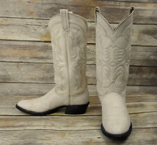 Mens 10 B Cowboy Boots White Tony Lama Vintage Country Western Summer Rodeo