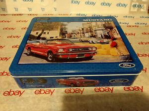 FORD MUSTANG JIGSAW PUZZLE RACE DAY 1000 PIECE SCHMID W/TIN - 100 YEARS 2002