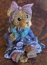 TEDDY BEAR GIRL FIGURINE SUPER CUTE AND VERY DETAILED-