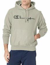 Champion Men's Reverse Weave Pullover Script Logo Hoodie (Oxford Gray, XL)