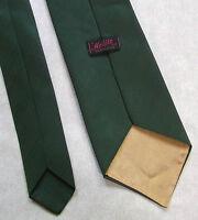 Vintage Tie Mens Wide Necktie Retro Fashion 1970s FOREST GREEN