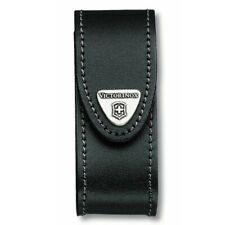VICTORINOX BLACK LEATHER BELT POUCH Swiss Army Knife Holder Pocket