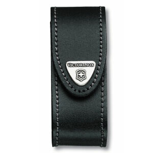 VICTORINOX SWISS ARMY KNIFE 2-4 LAYER LEATHER SHEATH POUCH BLACK 05690