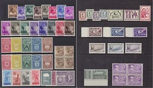 Belgium 1922/56 - Lot of 55 MNH Postage & Parcel Post stamps - Cat Value 250 €