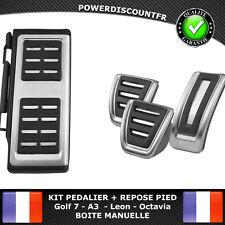 Kit pédalier + Repose pied Boite Manu VW Golf 7 Audi A3 Seat Leon Skoda Octavia