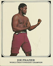 Original Hand Signed Autograph Photo of Boxer Joe Frazier