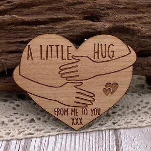 Wood A Little Pocket Hug Heart Loved Ones in need of Hug NHS Fridge Magnet Gift