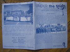 ULTRAS SAMPDORIA TITO CUCCHIARONI UNDER THE SHED SPECIALE FESTA 2008/09 FANZINE