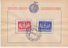 Alliierte Besetzung  969/70  Hannover Messe 1948  Gedenkbaltt