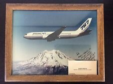 Original Company Photo First Flight Boeing 767 N767BA Mt Rainer Customer Gift