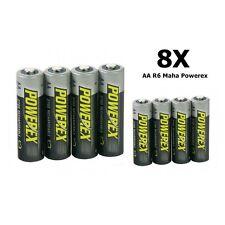 AA R6 Maha Powerex 2700mAh Rechargeable Batteries 8x  FR