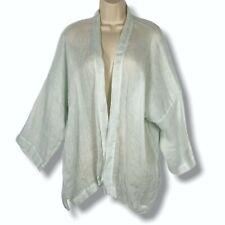 Eskandar 0 Linen Open Jacket Boxy Drop Shoulder Pale Watercolor