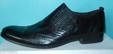 Chaussures cuir froissé noir FRANCO BUZZATO  A enfiler taille 44