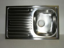 Lavello cucina cm 90 incasso lavelli inox 1 vasca e gocciolatoio completo