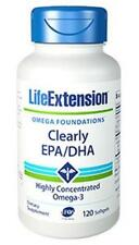 NEW! Life Extension Clearly EPA/DHA Ultra Omega 3 fish oil small easy to swallow