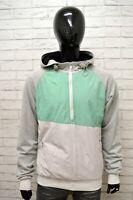 Felpa Uomo PULL & BEAR Taglia XL Maglione Grigio Sweater Man Cardigan Poliestere