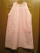 Oscar de la Renta Girl's Pink Polka-dot Halter Dress Size 14Y