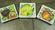 "J McCALL 2004 BLUE SKY CORPORATION, (3) 5"" SQUARE PLATES / DISHES, NEW"