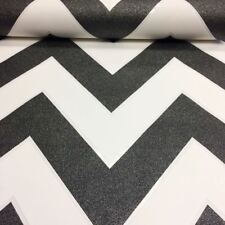 Chevron Zig Zag Wallpaper White Black Glitter Textured Vinyl Paste The Wall