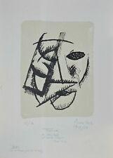 """Lithography Lithographie Litografia CONTI Primo """"CLOWN"""" es.67/70 con dedica 1976"""