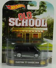 Movie Old school Custom 1977 Dodge Van 1:64 Hot Wheels