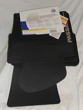 2006 TO 2010 VW Passat Rubber Floor Mats - FACTORY OEM Accessories - OVAL CLIPS
