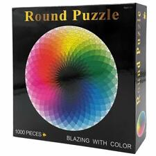 1000Pcs Round Jigsaw Puzzles Rainbow Palette Intellectual Game for Adults & Kids