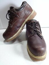 LUGZ Boots for Men 10 Brown Leather Drifter Lo Slip Resistant Lace Up Mens Shoes