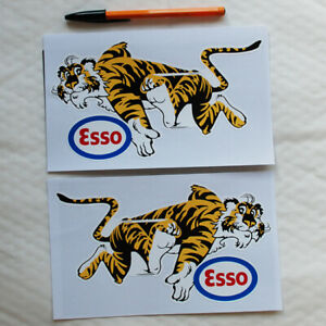 Esso Tiger Tigers stickers 2 Two Le Mans Motor Race Rally Rallying decal 1970s