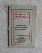 Vintage 1930s Booklet Rumford Chemical Works Household Hand Book