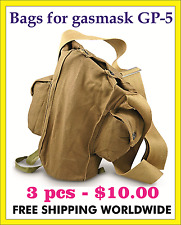 BAGS for military soviet russian gas mask GP-5. 3 pcs