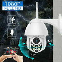 Outdoor Waterproof 1080P HD WiFi PTZ Pan Tilt Security IP IR Camera Night Vision