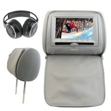 Car Headrest Monitor DVD Video Player USB IR Remote Game Headphone With Headset
