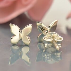 Sterling Silver .925 Small Tiny Butterfly Stud Post Earrings - Jewelry Gift
