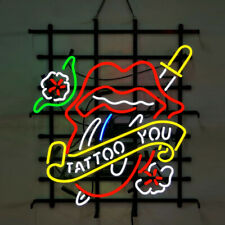 Neon Signs Gift Tattoo You Beer Bar Pub Tattoo Shop Party Room Display 24X20
