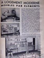PUBLICITÉ 1959 MINVIELLE A LOGEMENT MODERNE MEUBLES PAR ÉLÉMENTS - ADVERTISING