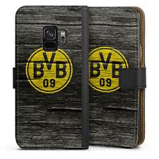 Samsung Galaxy S9 Tasche Hülle Flip Case - BVB Holzoptik