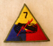 "WWII LEMON APEX 7TH ARMOR DIV VARIANT W/ SMALL NUMBER ""7"" & THIN OD BORDER CE"