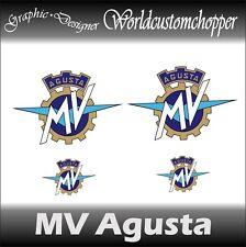 4 DECAL ADESIVI STICKERS MV AGUSTA 2 DA SERBATOIO 2 DA CODONE