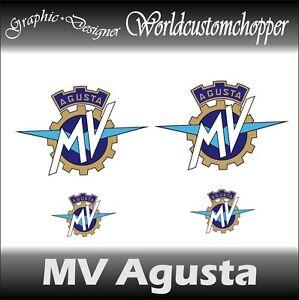 4 Abziehbild Aufkleber Mv Agusta 2 Von Tank Heck