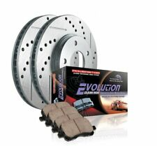 Power Stop K1714 Front Ceramic Brake Pad and Cross Drilled Slotted Combo Rotor