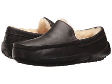Men UGG Ascot 5379 China Tea Leather Slipper 100% Authentic Brand New