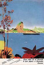 PUBBLICITA'1936 COSULICH  ITALIA FLOTTE RIUNITE NAVE SUD AMERICA PAN DI ZUCCHERO