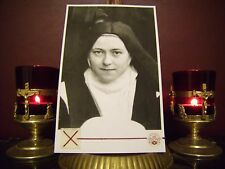 St. Therese' the Little Flower Holy Relic Card with Relic & Prayer Card